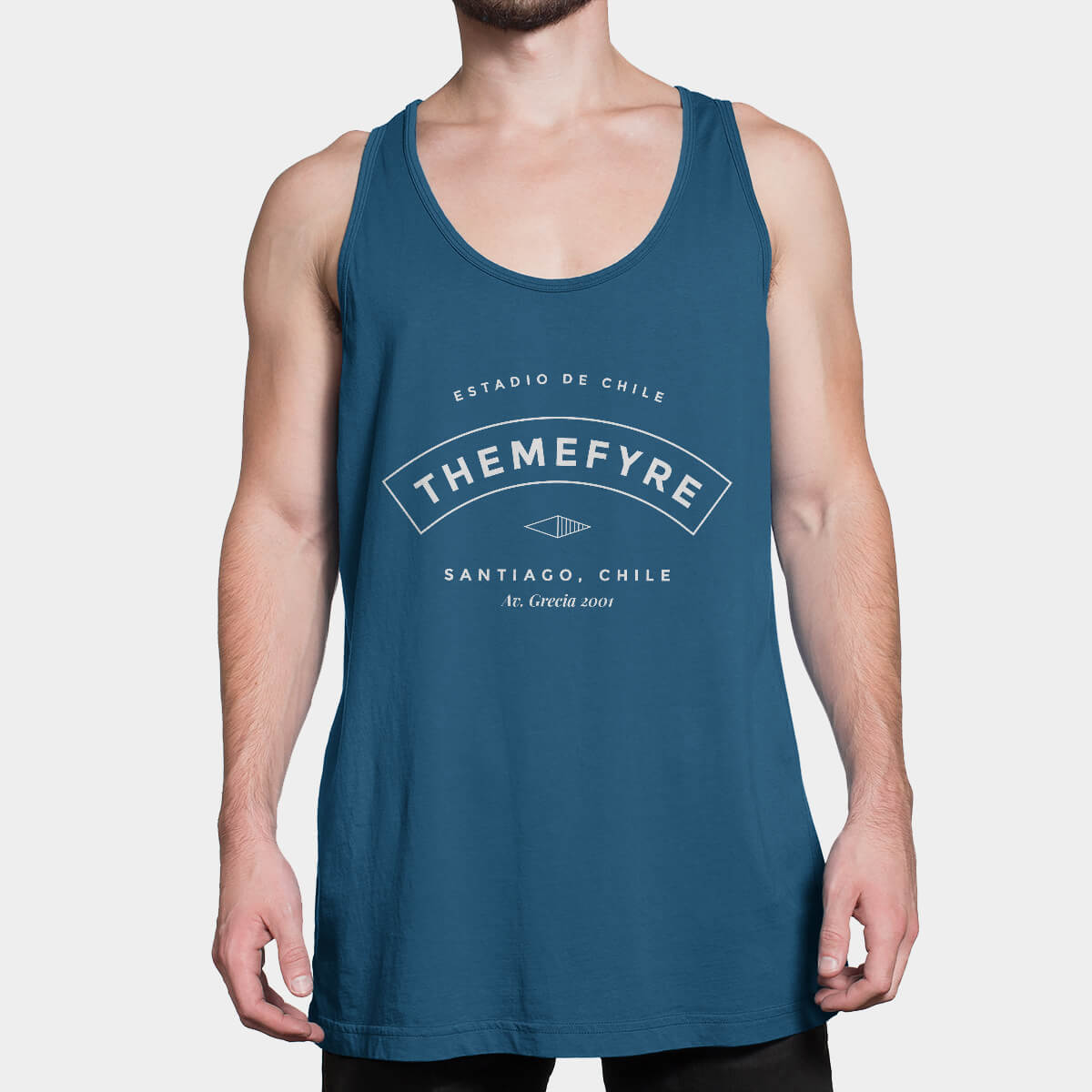 Astra Tank Top Blue Front